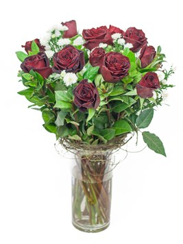 Arrangements: RED ROSE VASE