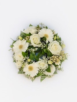 Funeral : White Round Wreath