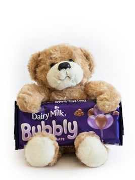 Chocolates and Sweets: Teddy Bear & Cadbury's Bubbles