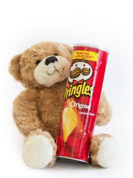 Soft Toys and Gifts: Teddy Bear & Red Pringles